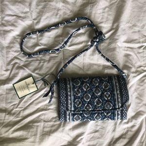 Vera Bradley classic print cross body wallet bag